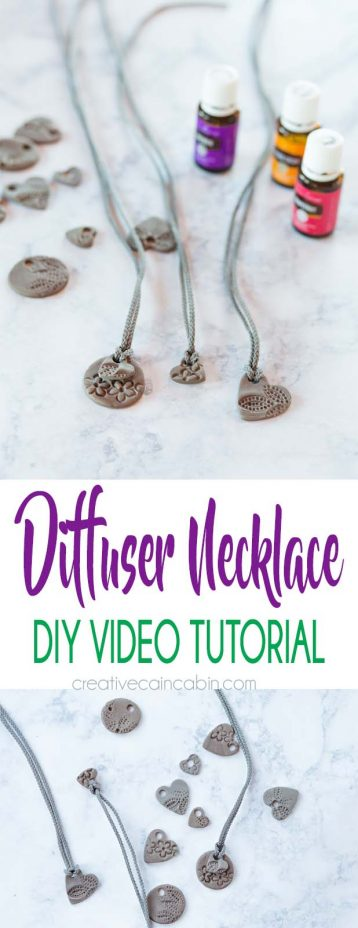 Diy Diffuser Necklace Video Tutorial Using Clay and Adding Essential Oils to Get a Signature Scent. Essential Oil Formulas Included.