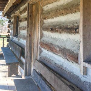 Log Home Build Using Telephone Poles