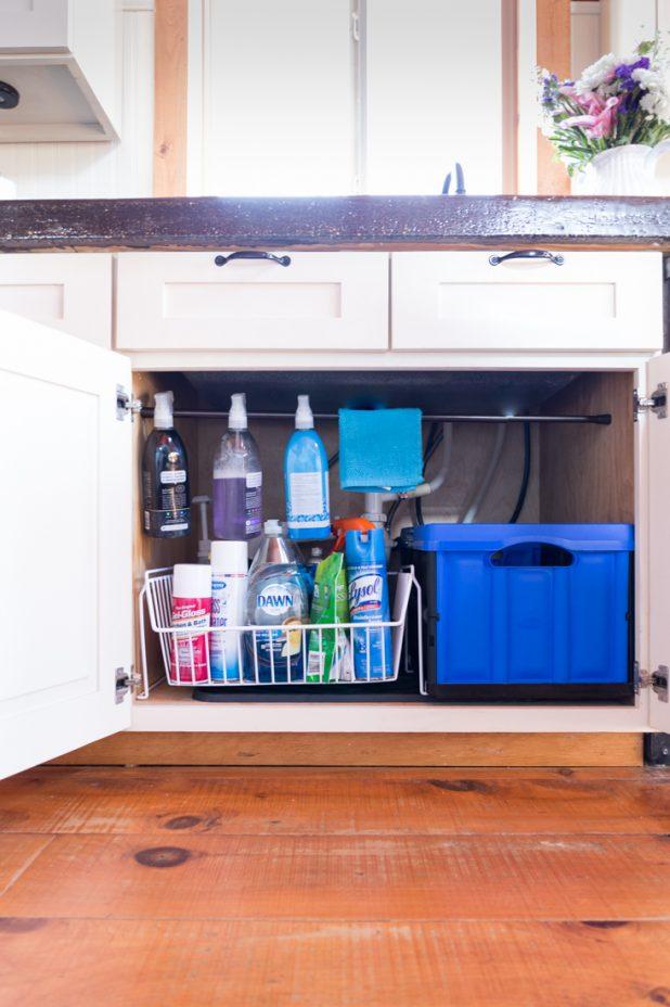 Under Sink Organization After