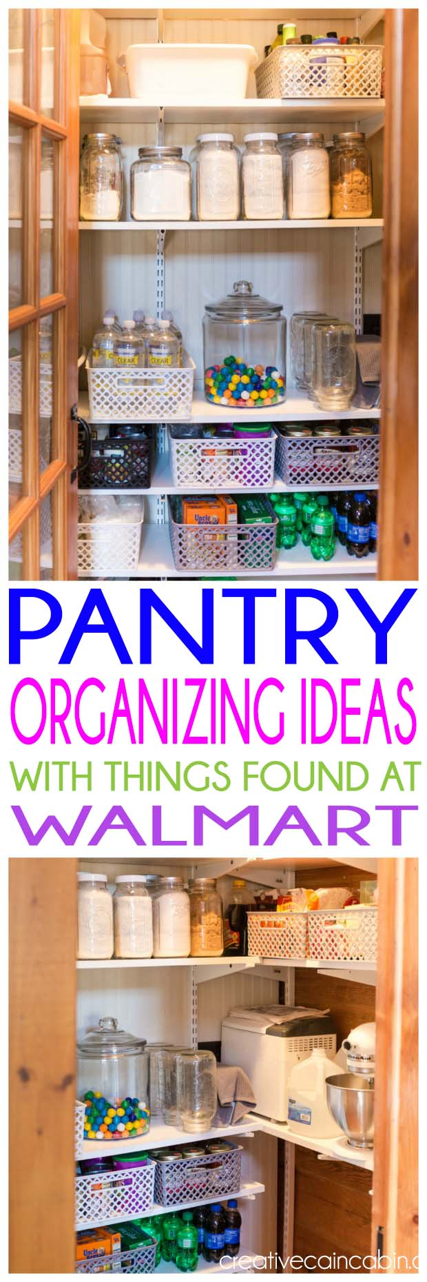 How to Organize a Pantry for Under $40 Using Things Found at Walmart