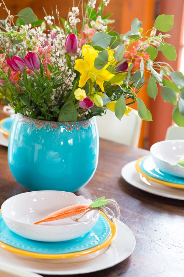 Beautiful Spring And Easter Centerpiece