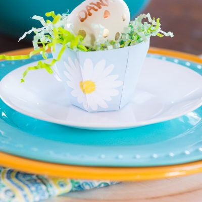 Easter Tea Cup Place Card Setting