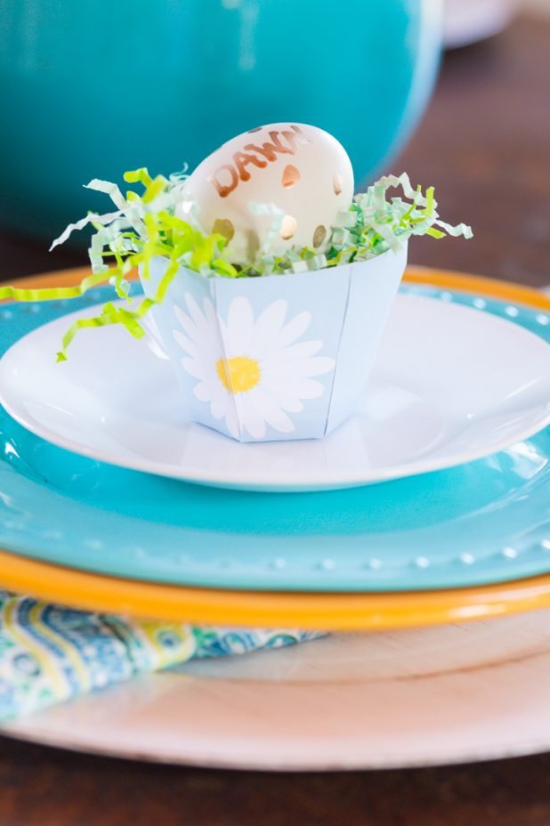 Printable Tea Cup Easter Place Card Idea