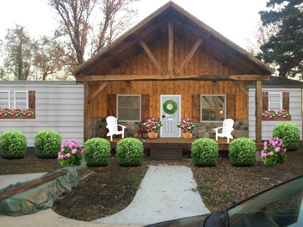 Exterior House Transformation Using Photoshop or PicMonkey