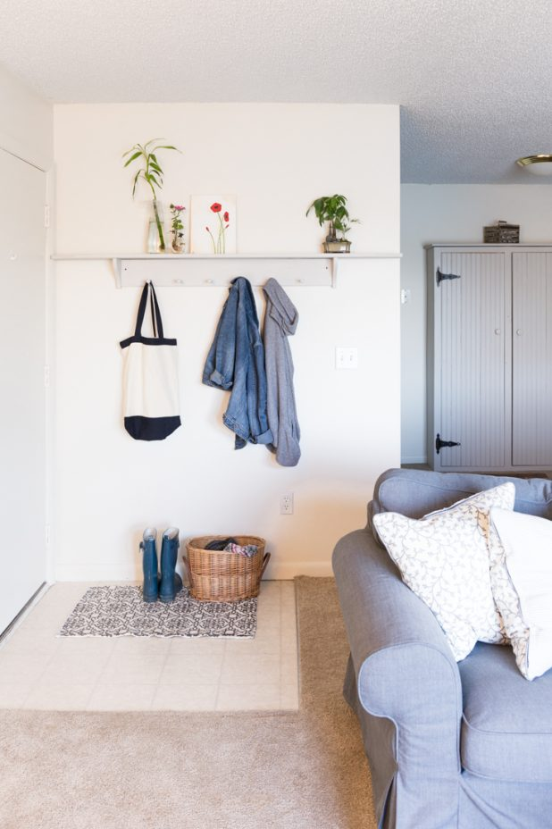 Small Space Entry Idea, Great For Apartment Living