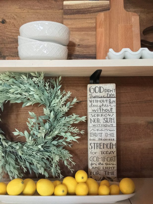 Farmhouse Open Shelve Decor