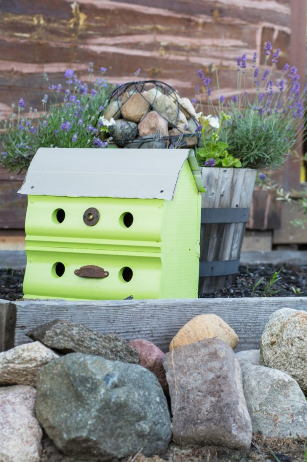 Large outdoor two story birdhouse