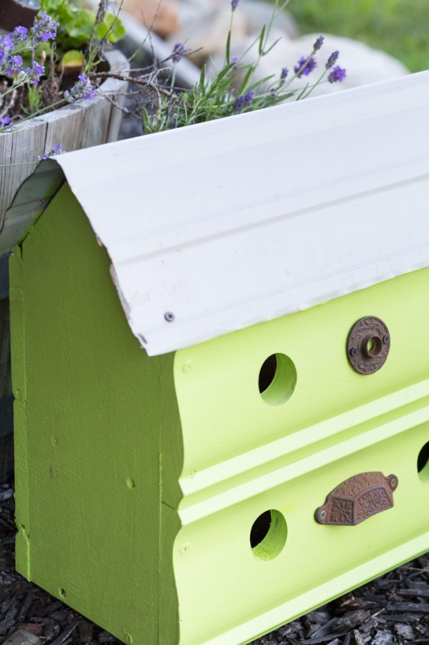 Large Two Story Outdoor Birdhouse with Vintage Hardware
