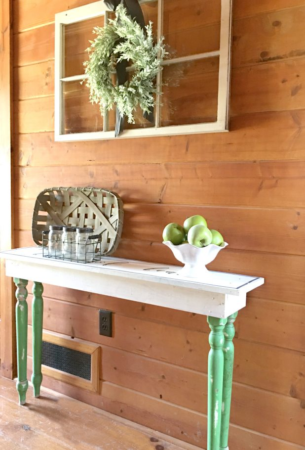 Entryway Table Made From Salvaged Items