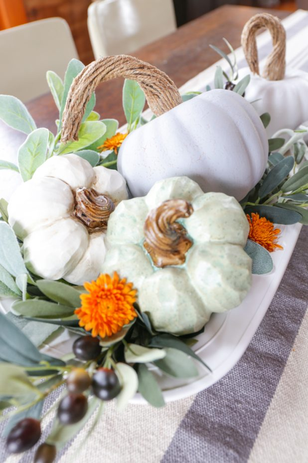 Easy DIY Pumpkin Makeover. Create a Chalk Paint Farmhouse Pumpkin From a Dollar Store Pumpkin
