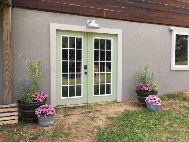 Basement Door Green Paint