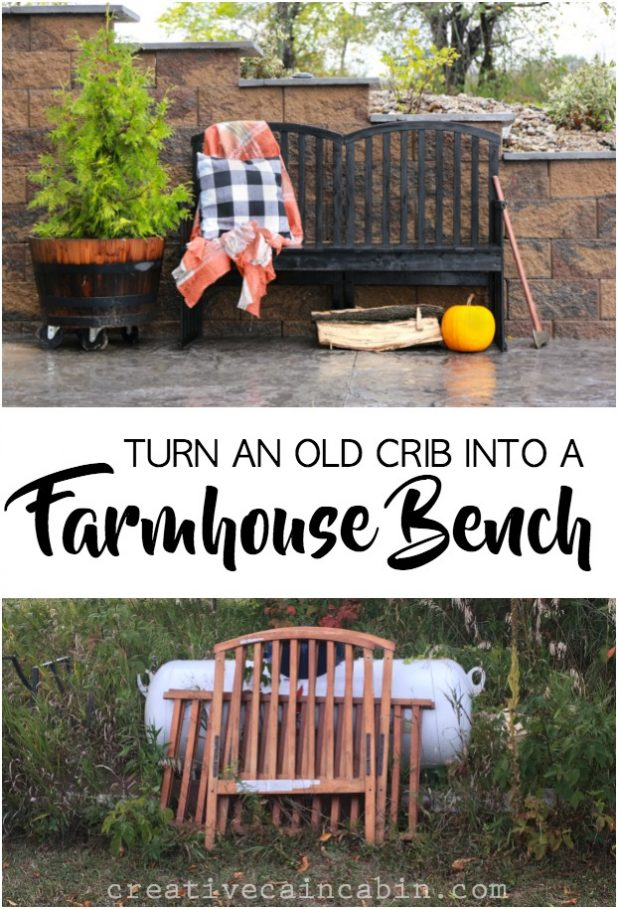 Don't Throw Away That Old Baby Crib You Have In Storage, Why Not Turn It Into a Stylish Farmhouse Park Bench For Your Home or Garden