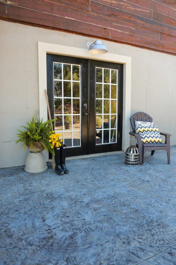 Painted Black French Doors