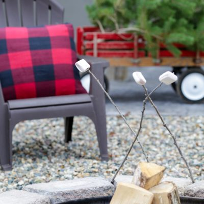 Rustic Fire Pit Christmas Decor