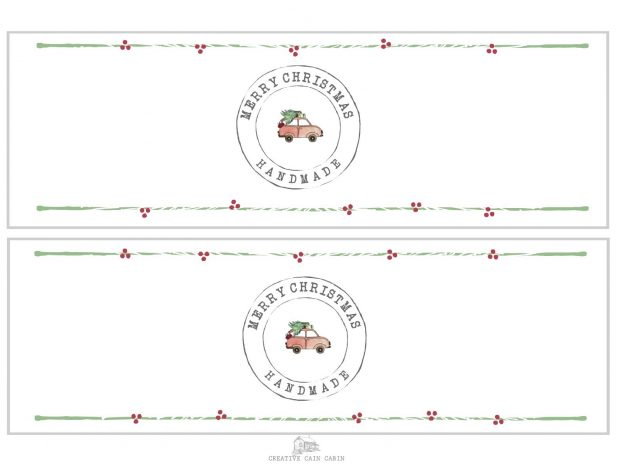 FREE Printable Christmas Soap Wrappers