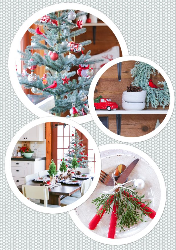 Rustic Christmas Dining Room Tour of A Log Home