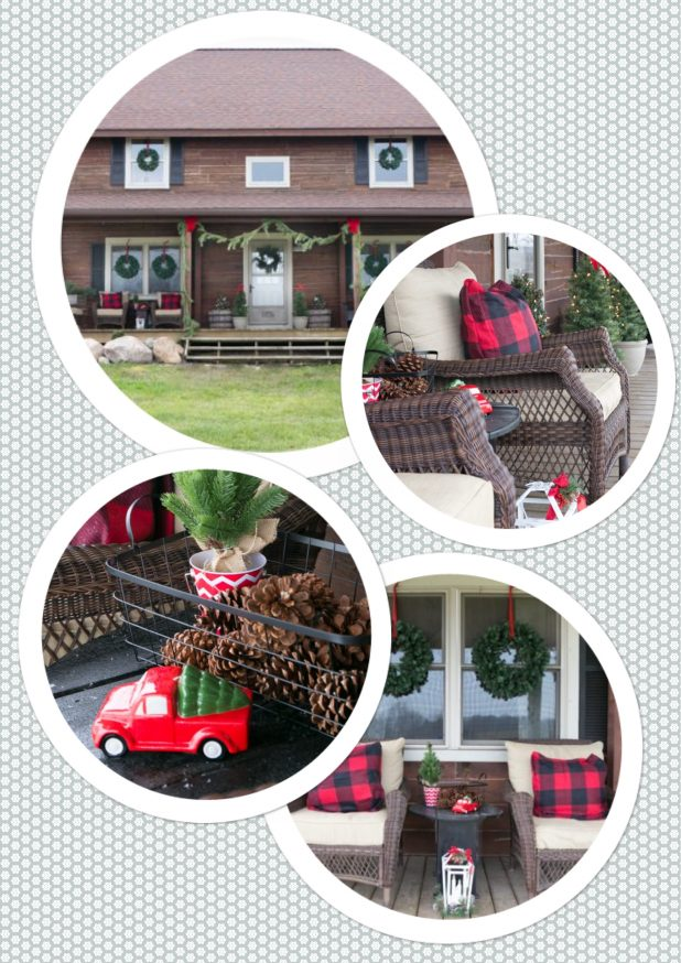 Christmas Front Porch Tour of a Rustic Log Home