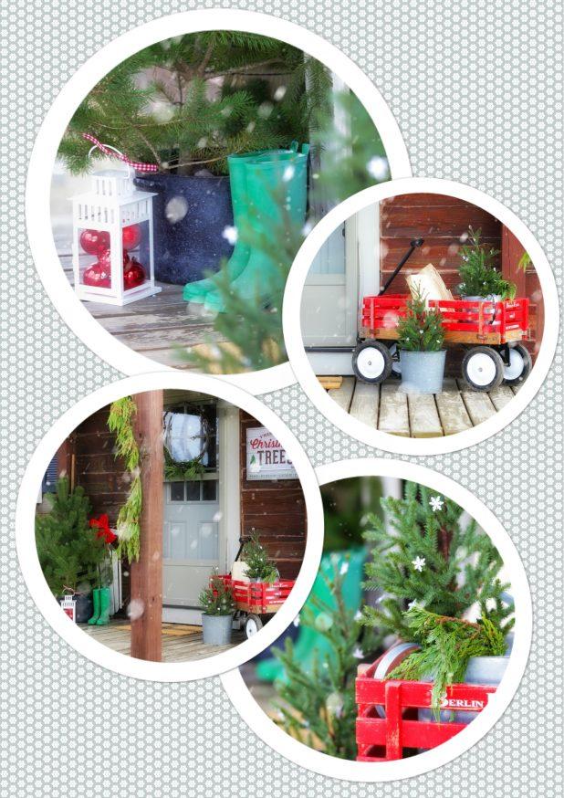 Rustic Christmas Porch Tour of a Log Home