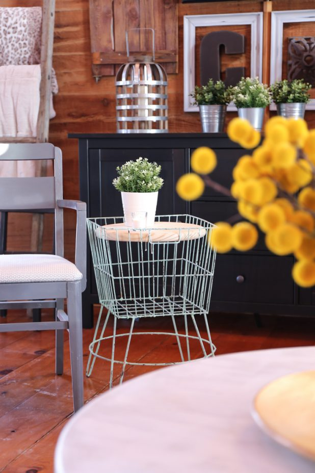 DIY Wire Plant Stand Side Table