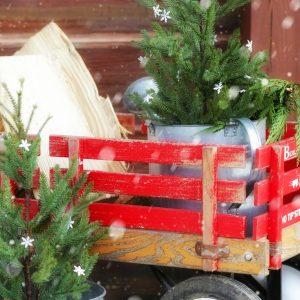 Rustic Log Home Christmas Porch