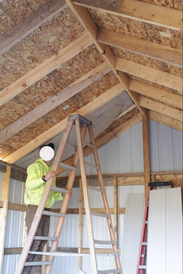 Adding Ceiling Insulation and Ceiling to the Toy Shed. DIY Shed Build Without Plans