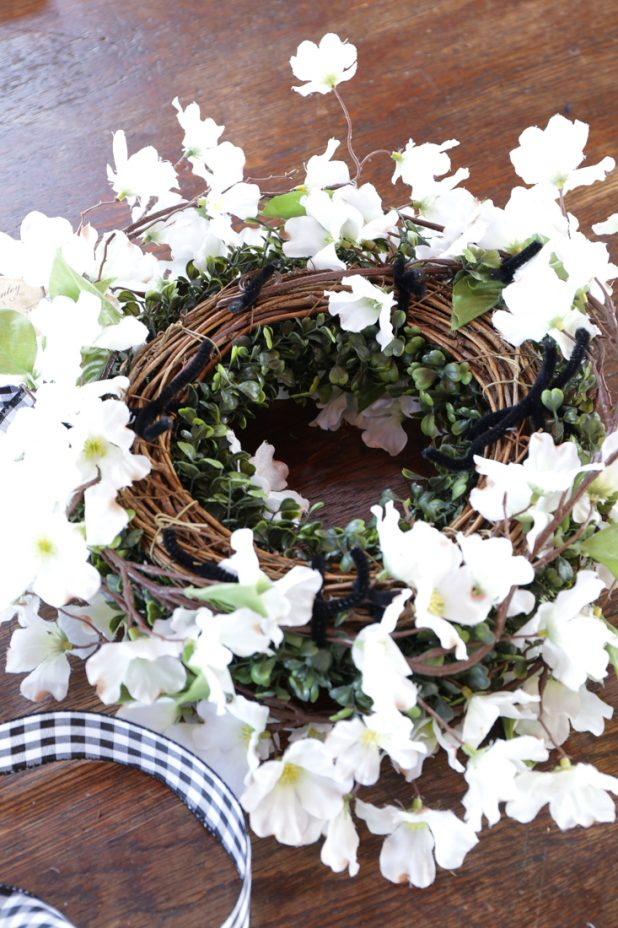 How to Make a Spring Apple Blossom Wreath