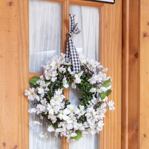 Spring Apple Blossom Wreath | DIY No Glue Required