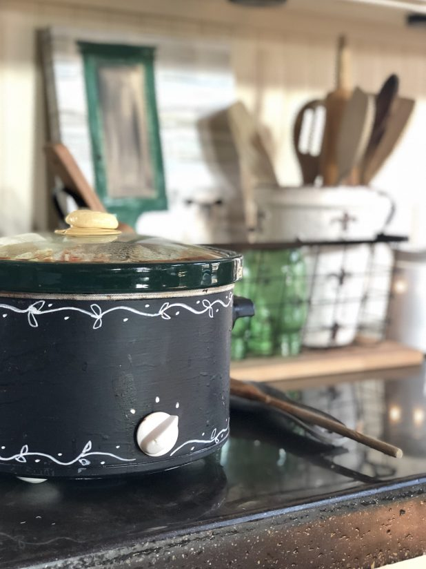 Crockpot Upcycle With Chalkboard Paint