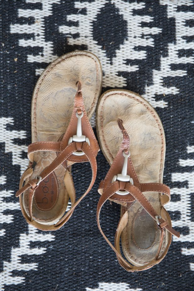 Easy DIY Method for Cleaning The Footbed of Suede Sandals After Photo