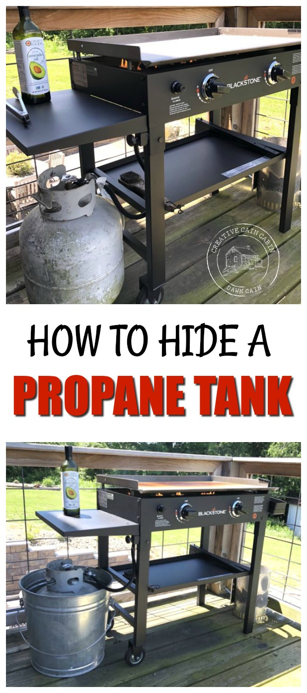 How to hide that ugly grill propane tank