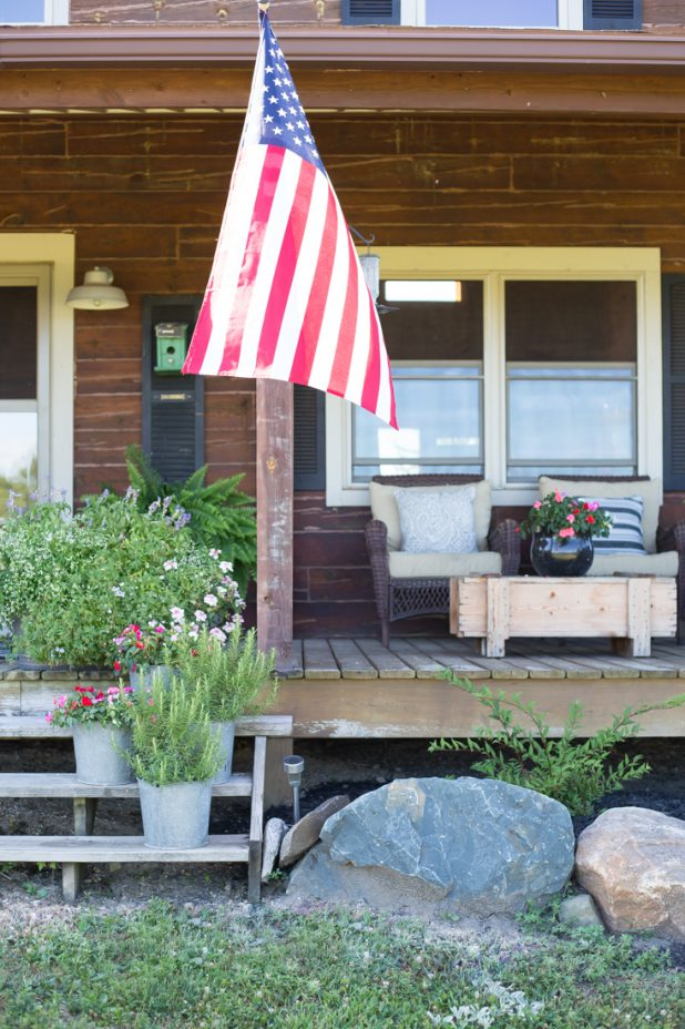 To to customize a store bought flag pole to match your homes exterior