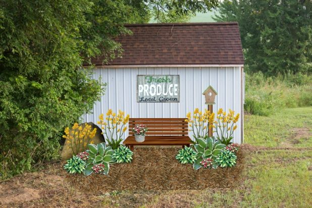 Ideas For Decorating The Outside Of A Garden Shed Using Rustic Farmhouse Finds