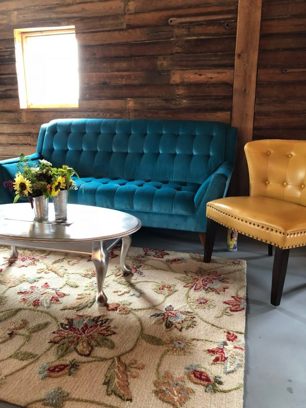 Farm to Table Event Seating Area