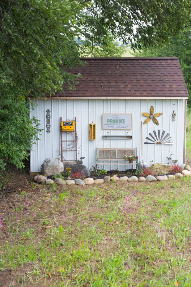 Garden Shed Exterior Decor and Landscaping
