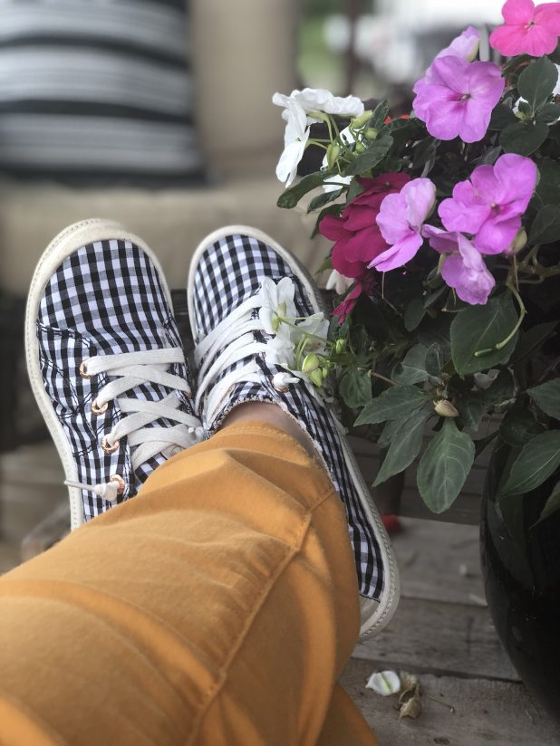 Gingham Tennis Shoes By Roxy