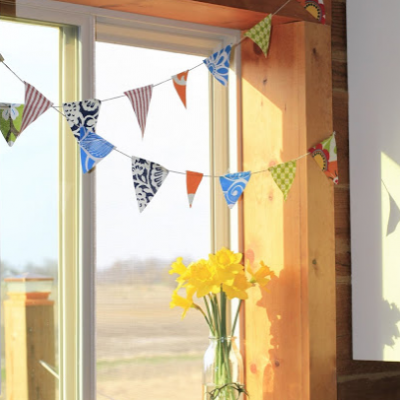 Daffodils and Bunting