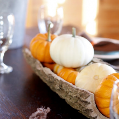 Fall Dining with Natural Elements