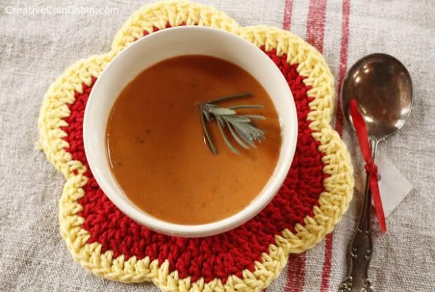 Tomato Basil Soup | Paleo | Gluten Free | Creative Cain Cabin