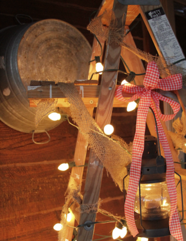 Use and Old Junk Ladder As A Christmas Tree