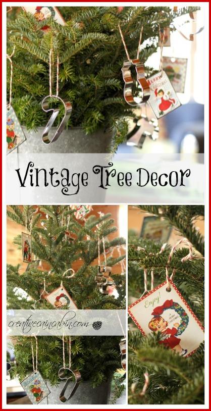 Vintage Kitchen Tree Decor