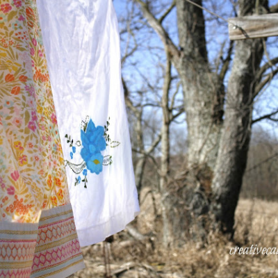 Vintage Sheets on the Line
