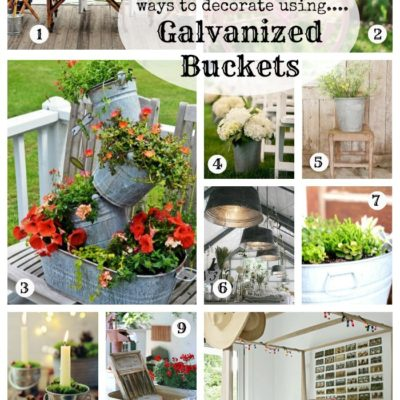 12 Ways to Decorate with Galvanized Buckets