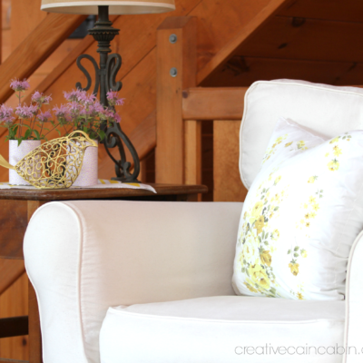 White Slipcovers and Wildflower