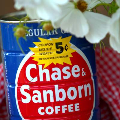 Chase & Sanborn Coffee Can