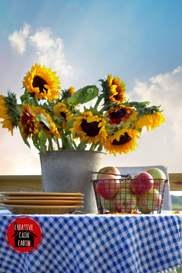 SunflowerApple Tablescape