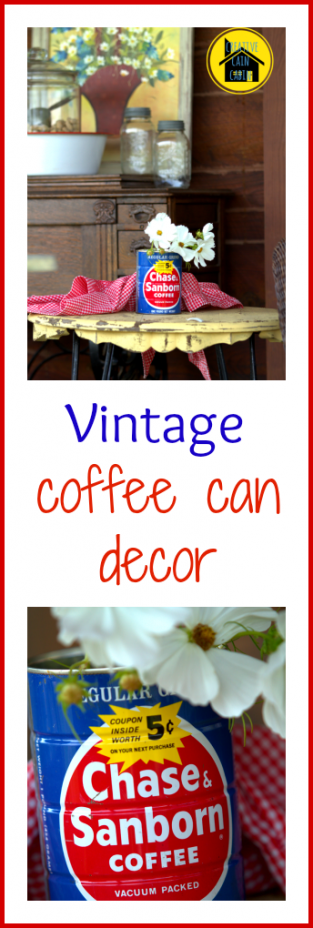 Vintage Coffee Can Decor