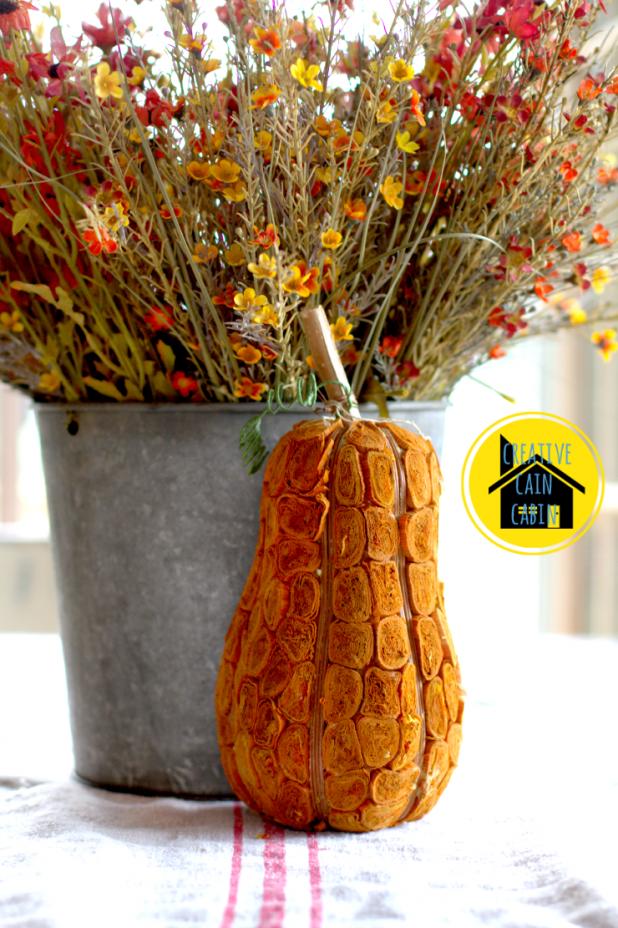 Pumpkin and Flower Centerpiece