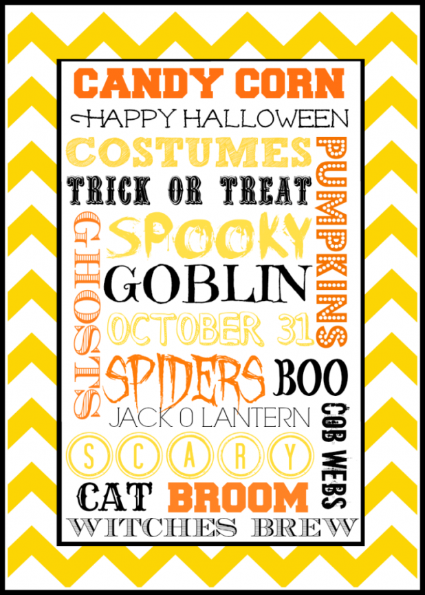 Halloween Subway Art Printable | Creative Cain Cabin