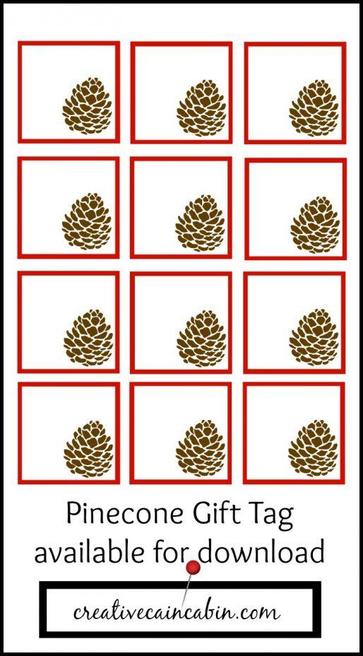 Pinecone Gift Tag Printable