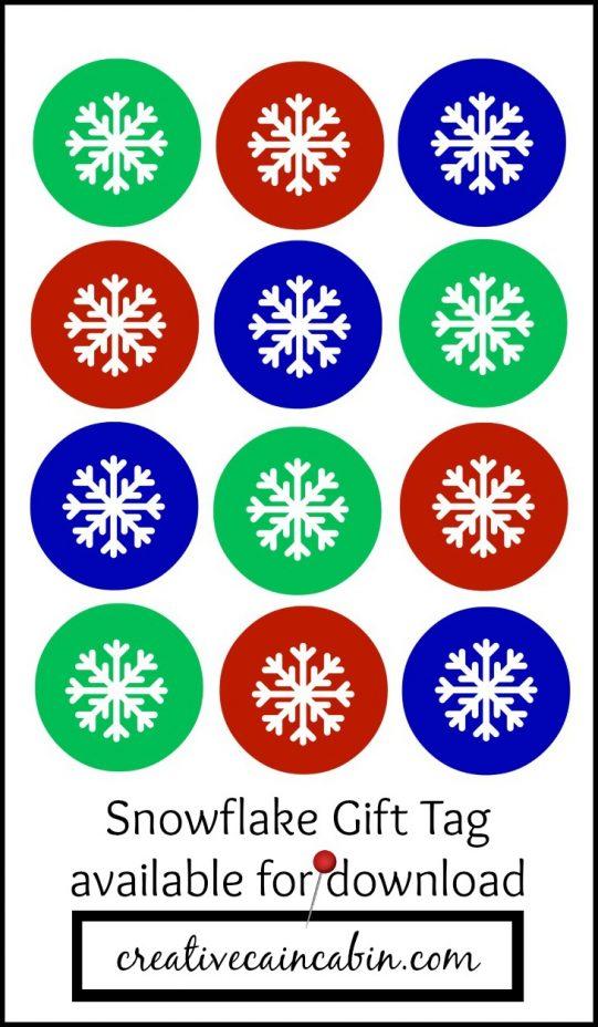 Snowflake Printable Gift Tag